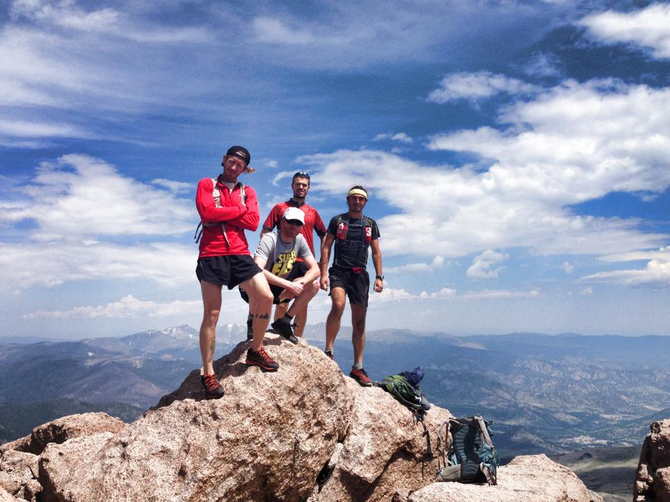 Rocky Mountain Runners on the Summit of Longs Peak (14,259')