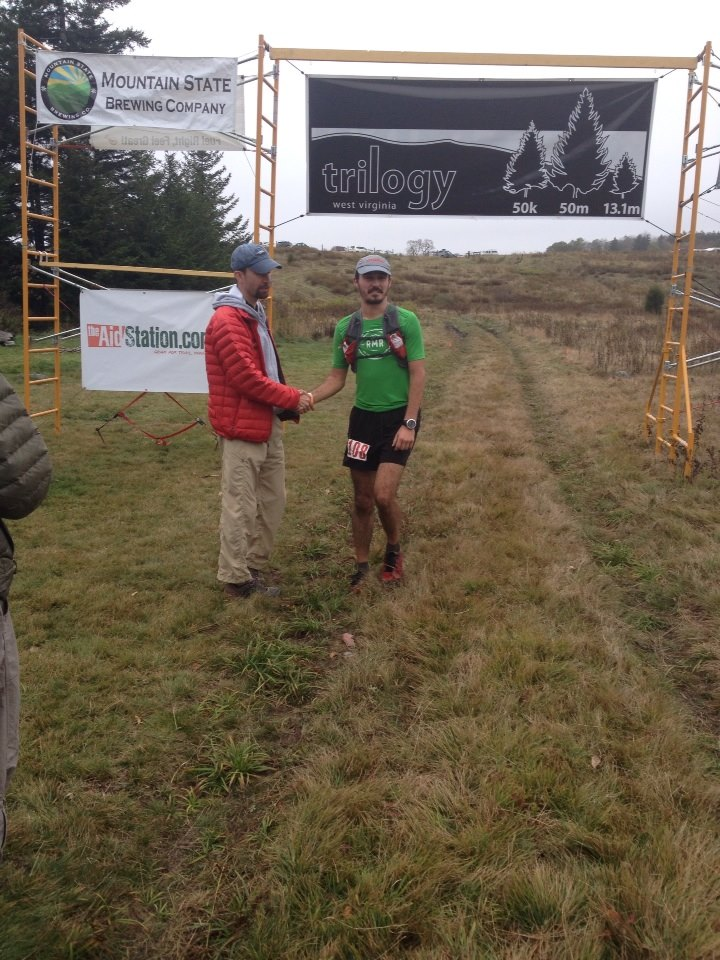 Finishing Day One (50K) 6th overall - 5:29