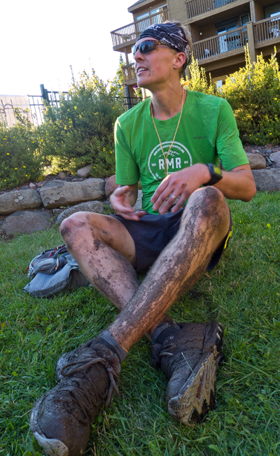 Just before going under the hose to wash off all the mud.  Photo credit: Kristen Barthel