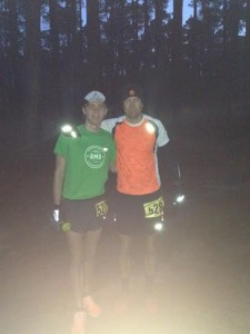 Me and my dad before the race